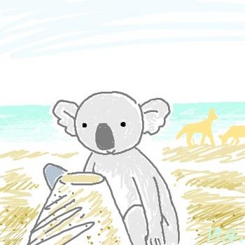 snsコアラと砂浜.jpg